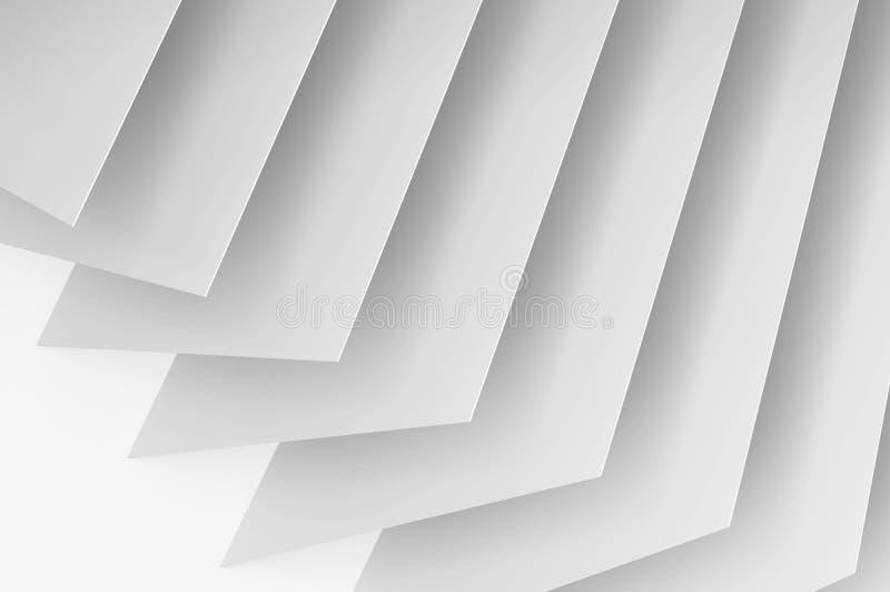 Abstracte witte digitale 3d achtergrond royalty-vrije illustratie