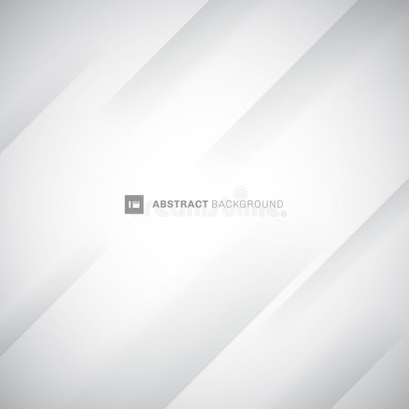 Abstracte witte en grijze moderne diagonale strepenachtergrond Document vouwenvouw U kunt voor dekkingsontwerp, affiche, reclame  royalty-vrije illustratie