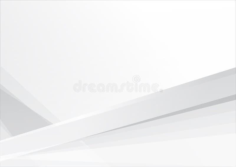 Abstracte witte en grijze van de achtergrond kleurentechnologie moderne ontwerp vectorillustratie royalty-vrije illustratie