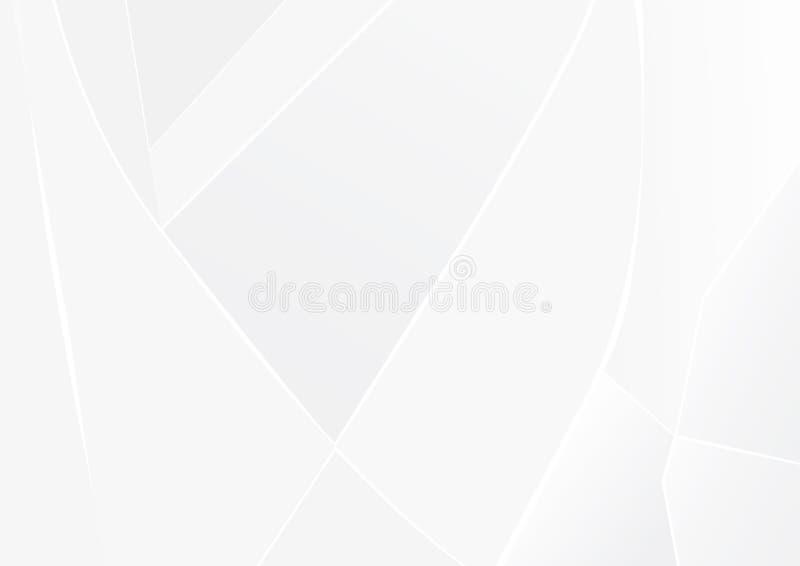 Abstracte witte en grijze van de achtergrond kleurentechnologie moderne ontwerp vectorillustratie stock illustratie