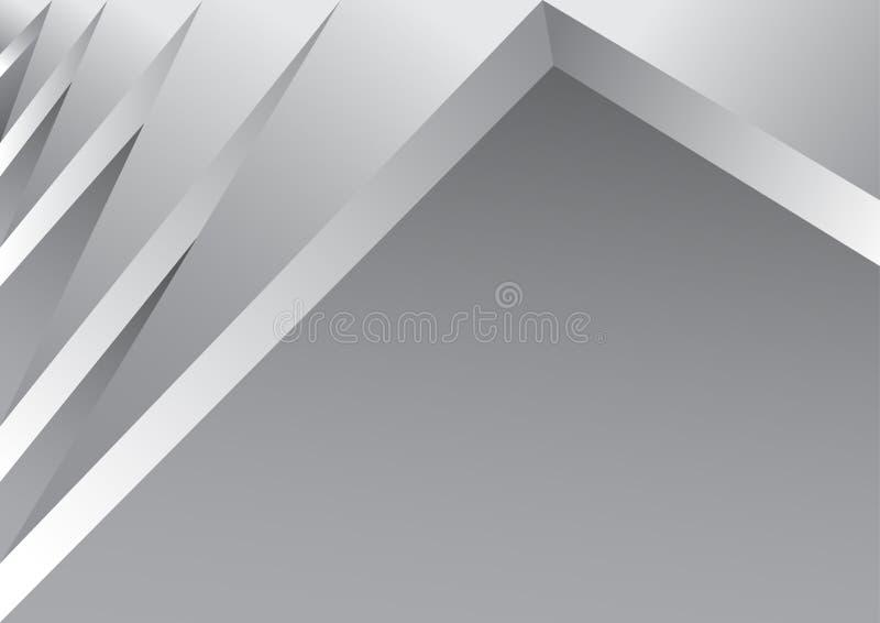 Abstracte witte en grijze van de achtergrond kleurentechnologie moderne ontwerp vectorillustratie vector illustratie