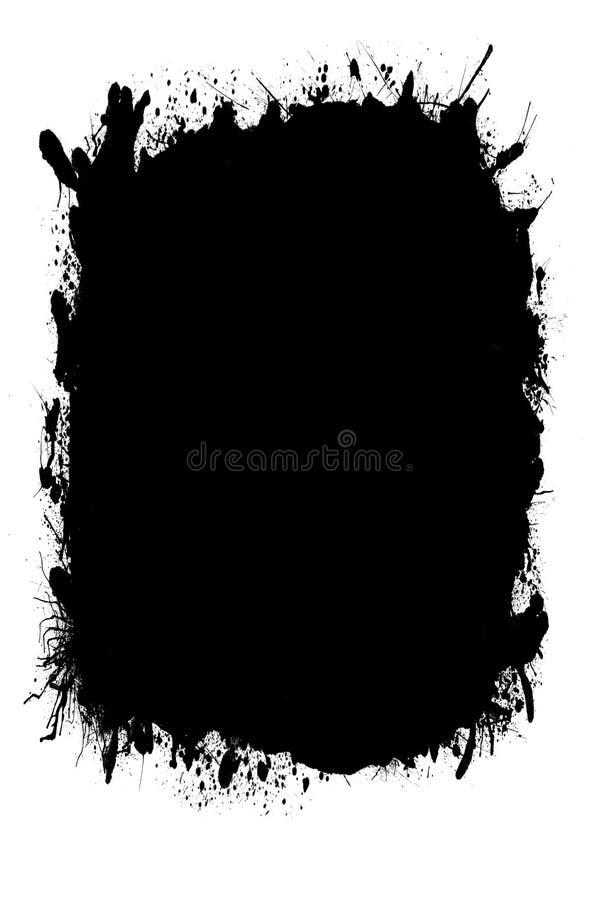 Abstracte Witte Grunge-Fotoranden voor Portretfoto's 5x7 royalty-vrije illustratie