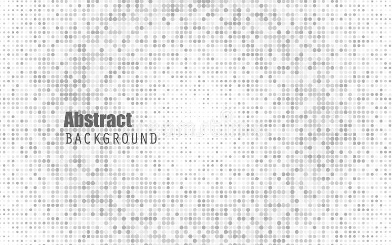 Abstracte witte kleuren halftone achtergrond Zwart en donker grijs Moderne ontwerpachtergrond voor rapport en projectpresentatie royalty-vrije illustratie