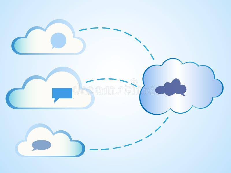 Abstracte wolken gegevensverwerking royalty-vrije illustratie