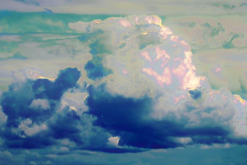 Abstracte wolken met flitsen van energie royalty-vrije stock foto