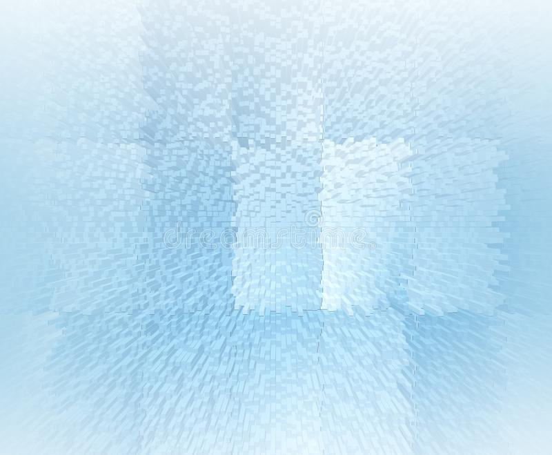 Abstracte zachte blauwe 3d illustrtionachtergrond stock illustratie
