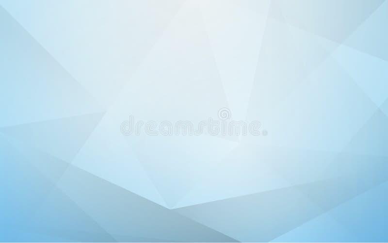 Abstracte zachte blauwe veelhoek geometrische achtergrond stock illustratie