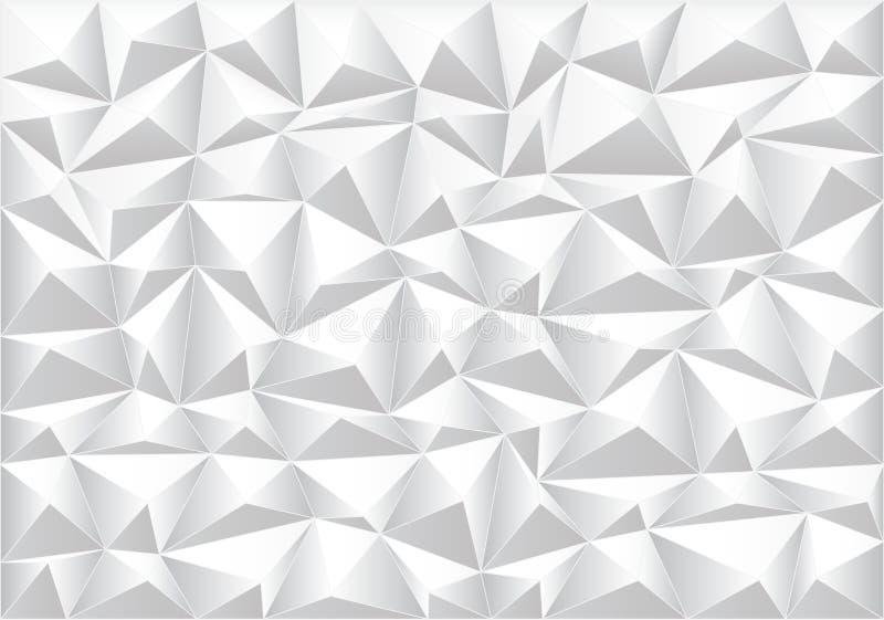 Abstracte zachte grijze van het achtergrond veelhoekpatroon textuurvector vector illustratie
