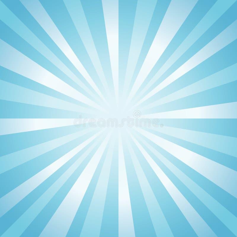 Abstracte zachte lichtblauwe stralenachtergrond Vector vector illustratie