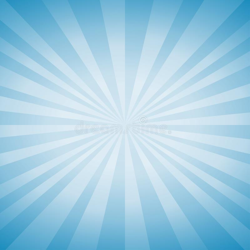 Abstracte zachte lichtblauwe stralenachtergrond Vector stock illustratie