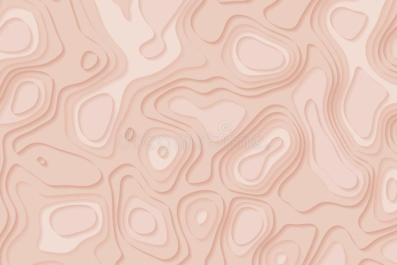 Abstracte zachte roze document affiche geweven met golvende lagen, kleur royalty-vrije illustratie