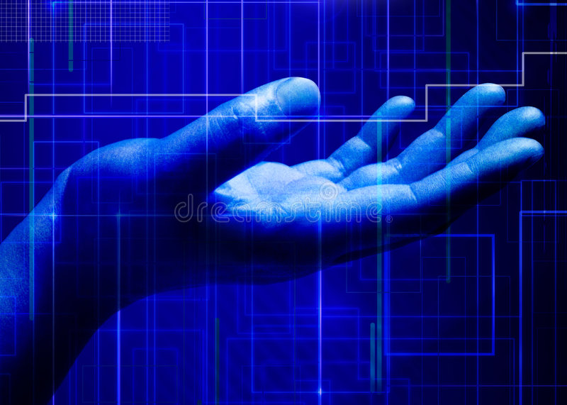 Abstracte zaken en IT royalty-vrije illustratie