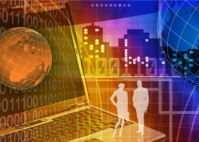 Abstracte zaken en de achtergrond van IT vector illustratie