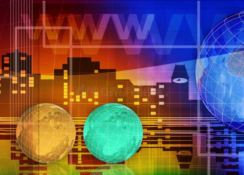 Abstracte zaken en de achtergrond van IT royalty-vrije illustratie