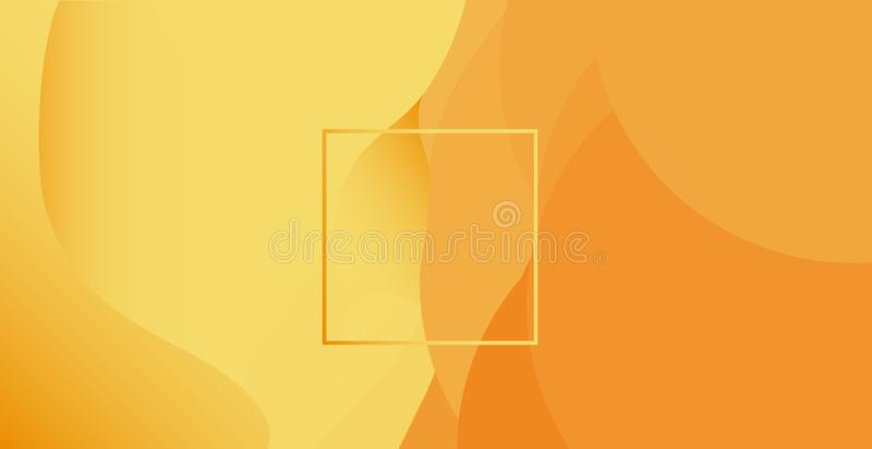 Abstracte zandige achtergrond met rechthoek in het midden Abstracte vector horizontale illustratie, royalty-vrije illustratie