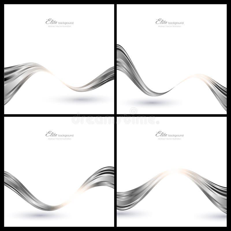 Abstracte zilveren elementen voor achtergrond stock illustratie