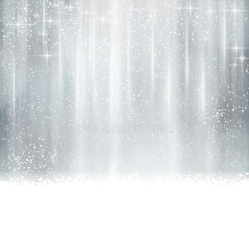 Abstracte zilveren Kerstmis, de winterachtergrond vector illustratie