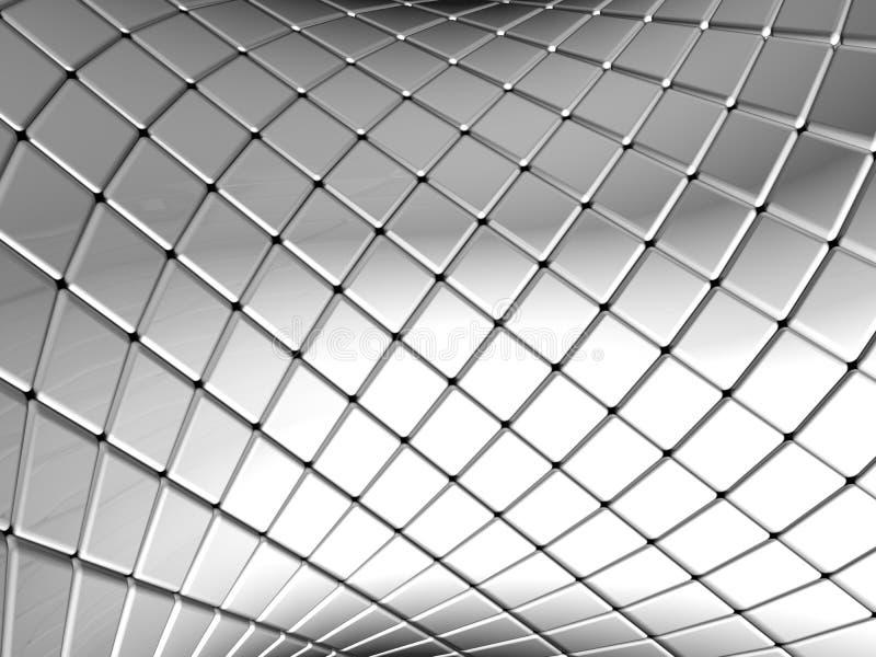 Abstracte zilveren vierkante patroonachtergrond stock illustratie