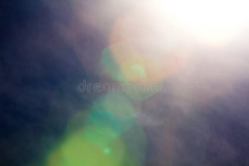 Abstracte zon en hemel stock afbeelding