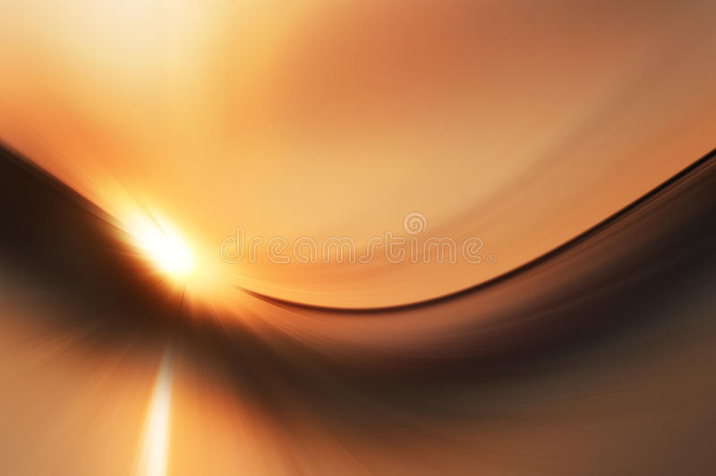 Abstracte zonsondergang stock illustratie