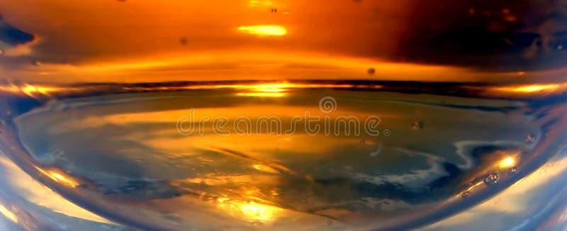 Abstracte zonsondergang stock fotografie