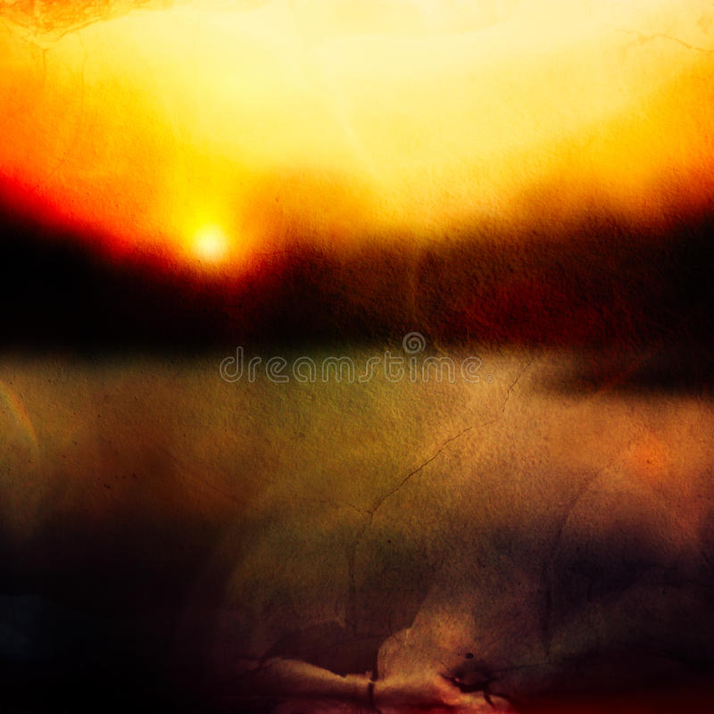 Abstracte zonsondergangachtergrond stock illustratie