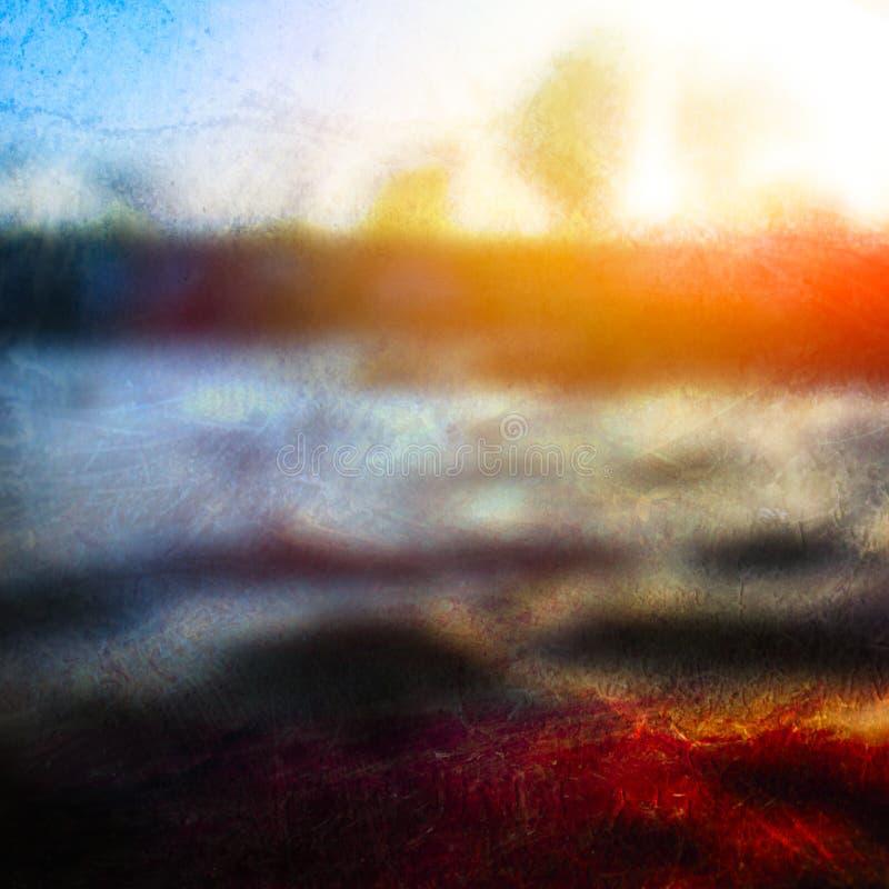 Abstracte zonsondergangachtergrond vector illustratie