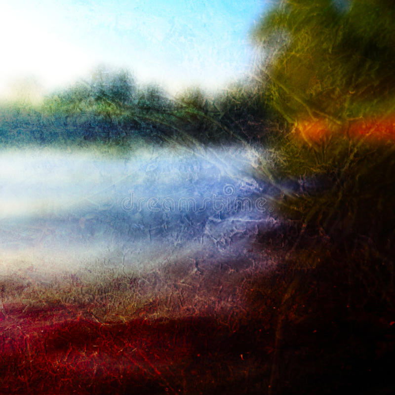 Abstracte zonsondergangachtergrond royalty-vrije illustratie