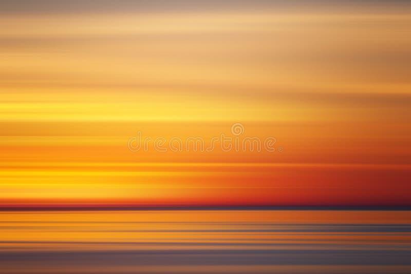 Abstracte zonsondergangkleuren, stock illustratie