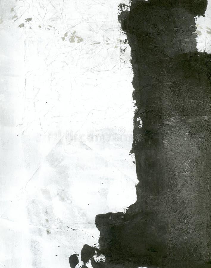Abstracte Zwart-wit royalty-vrije illustratie