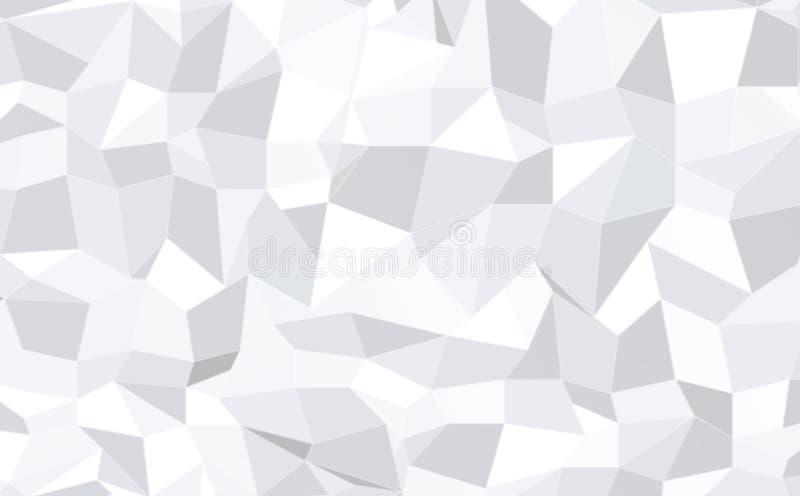 Abstracte zwart-wit lage polypatroonachtergrond stock illustratie