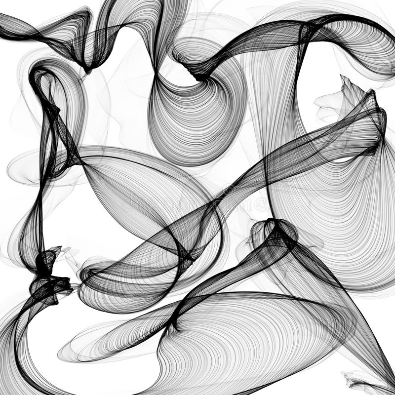 Abstracte zwart-witte achtergrond royalty-vrije illustratie