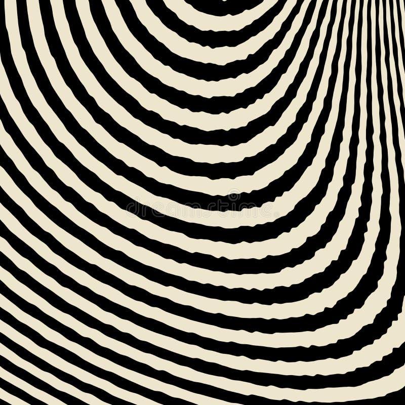 Abstracte Zwart-witte Achtergrond van Golven vector illustratie