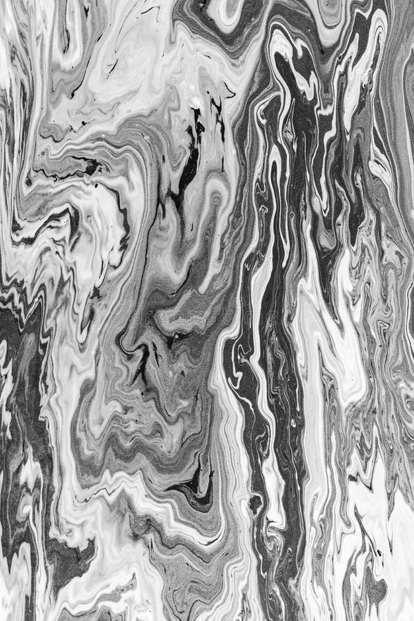 Abstracte zwart-witte digitale kunstachtergrond royalty-vrije illustratie
