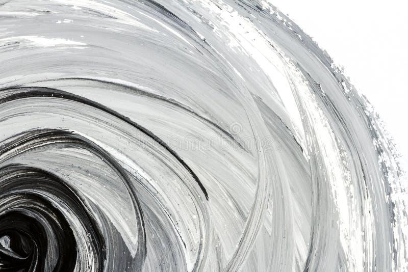 Abstracte zwart-witte hand geschilderde achtergrond royalty-vrije stock foto's