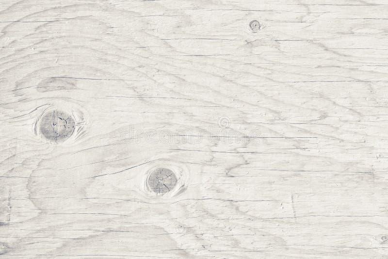 Abstracte zwart-witte houten Achtergrond, bureau van het Plank het gestreepte hout, Hoogste mening van witte houten lijst stock foto's