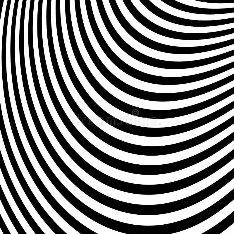 Abstracte Zwart-witte Abstracte Lijnen vector illustratie