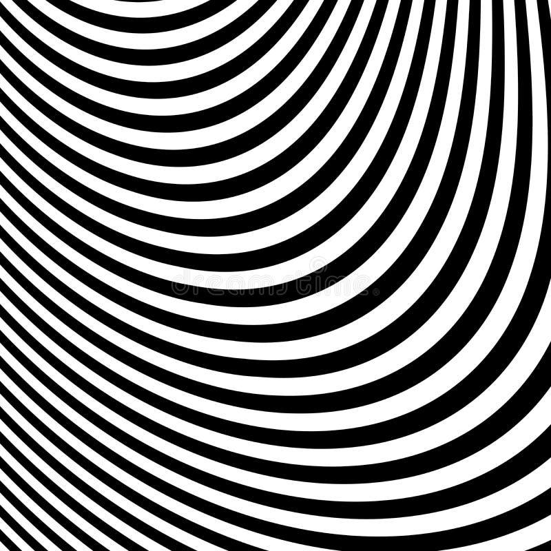 Abstracte Zwart-witte Abstracte Lijnen royalty-vrije illustratie