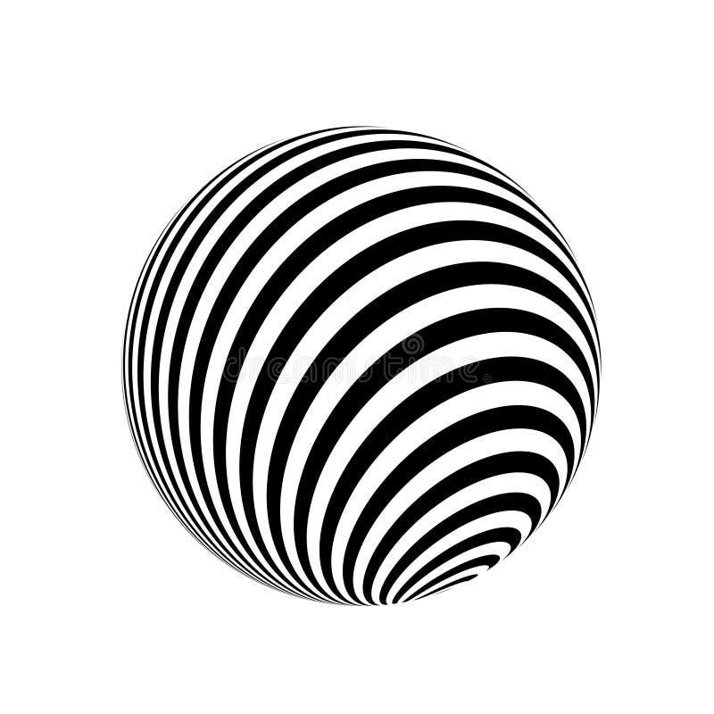 Abstracte zwart-witte lijnen vector illustratie
