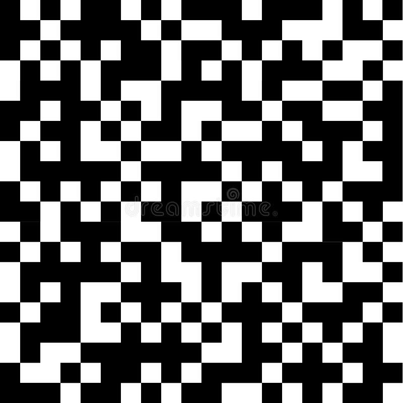 Abstracte zwart-witte vierkanten royalty-vrije illustratie