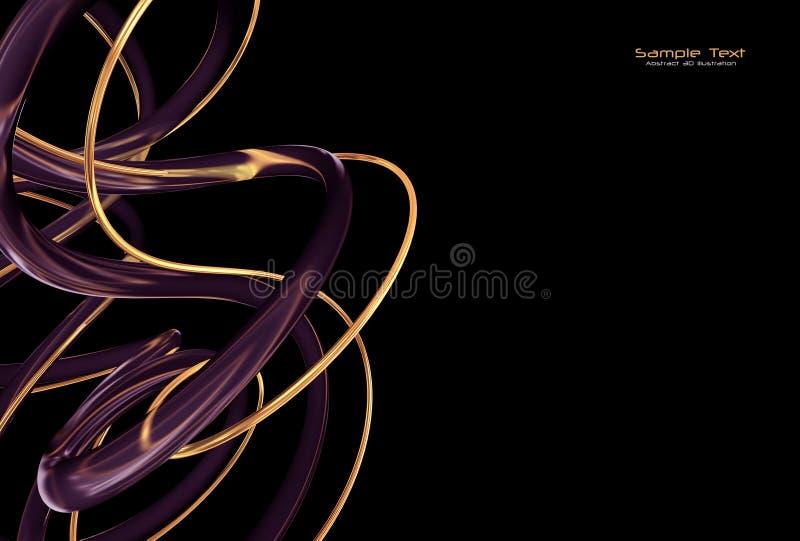 Abstracte zwarte achtergrond vector illustratie