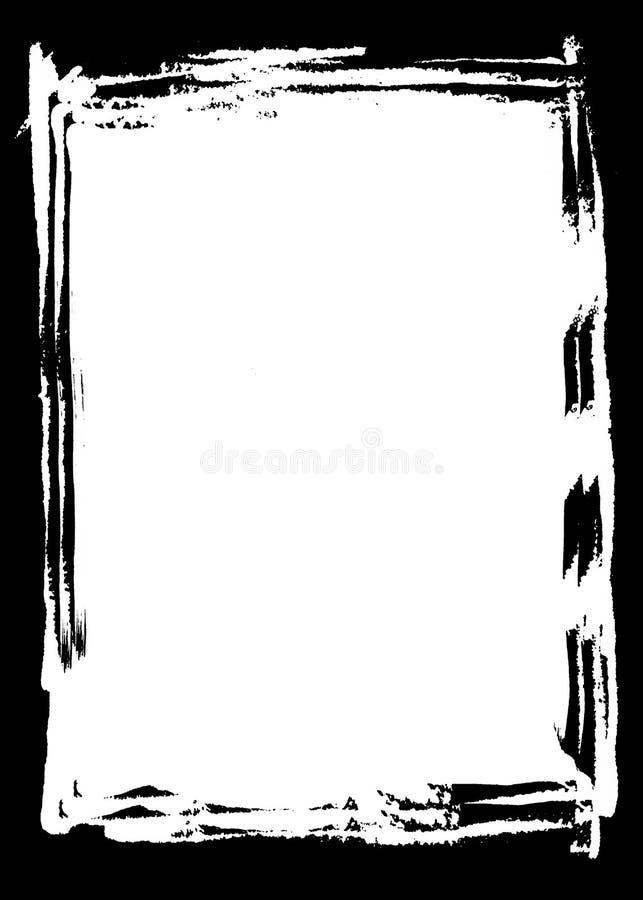 Abstracte Zwarte Decoratieve Fotorand/Bekleding voor Portretfoto's stock illustratie