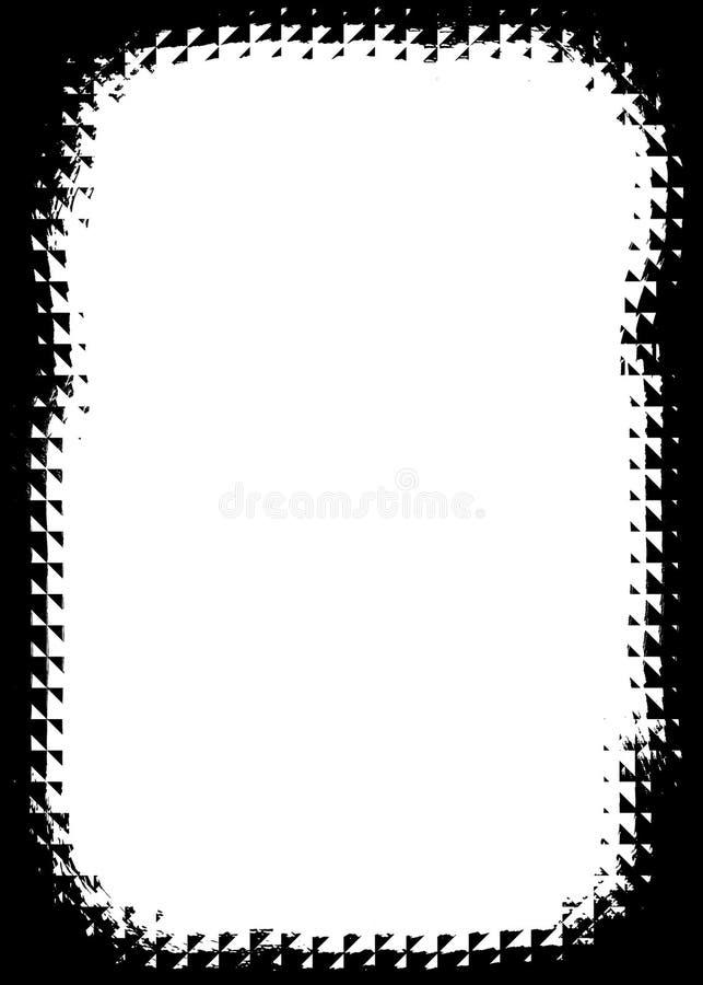 Abstracte Zwarte Decoratieve Fotorand/Bekleding voor Portretfoto's vector illustratie