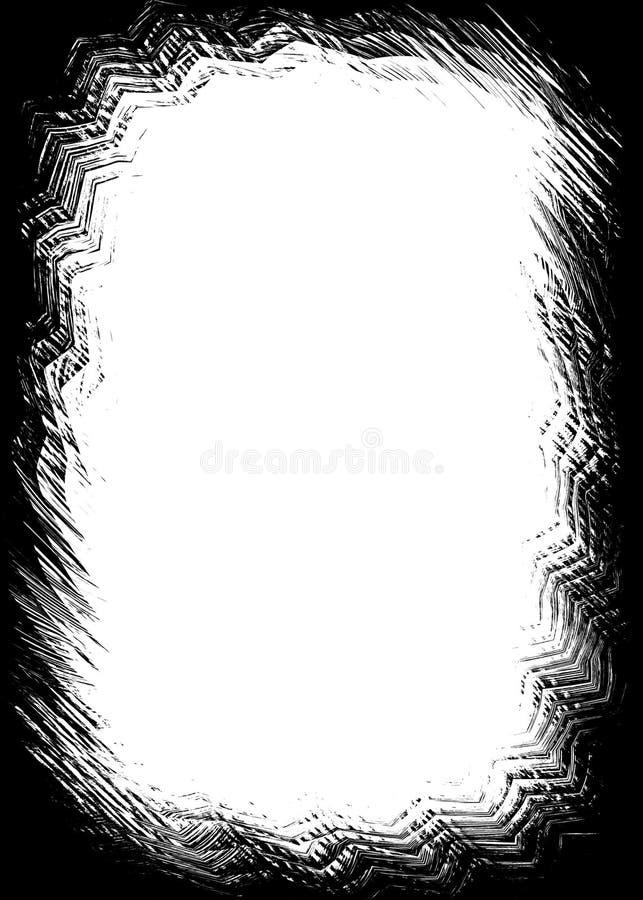 Abstracte Zwarte Decoratieve Fotorand/Bekleding voor Portretfoto's royalty-vrije illustratie