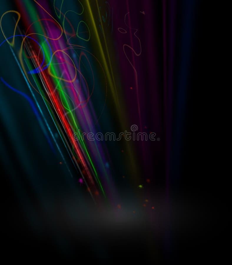 Abstracte zwarte gloeiende achtergrond stock illustratie