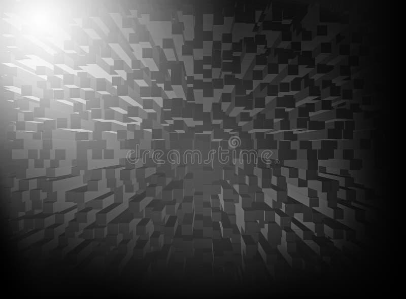 Abstracte zwarte grafiek als achtergrond voor ontwerp royalty-vrije illustratie