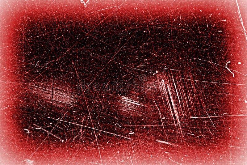 Abstracte zwarte met rode kader grunge textuur als achtergrond, versleten oude oppervlakte stock afbeelding