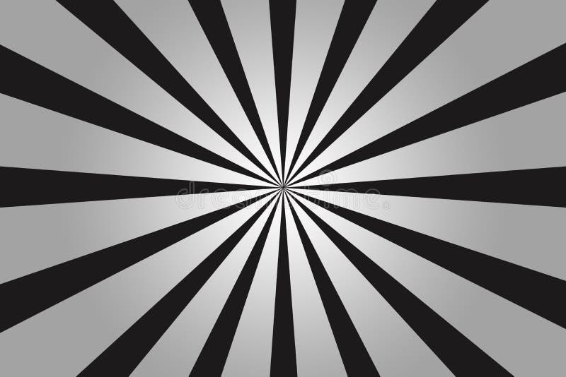 Abstracte zwarte radiale strepenillustratie vector illustratie