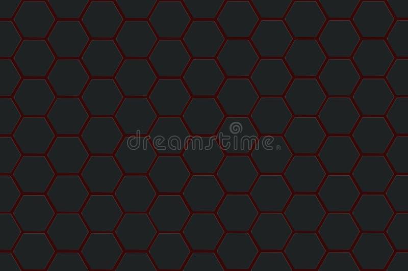 Abstracte zwarte textuurzeshoek als achtergrond vector illustratie