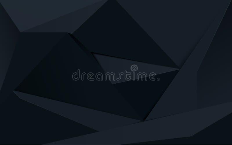 Abstracte zwarte veelhoek geometrische achtergrond vector illustratie